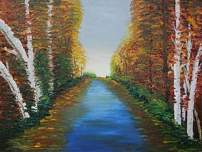 Skylines Painting - Oil Msc 004  by Mario Sergio Calzi