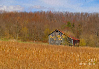 Mail Pouch Photograph - Oil Painted Mail Pouch Barn by Brian Mollenkopf