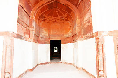 Oil Painting - Doorway In Humayun Tomb Art Print