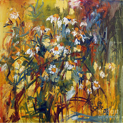 Painting - Oil Painting Chamomile by Ginette Callaway