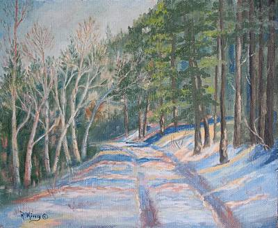 Painting - Oil Painting - Last Snow Of Spring by Roena King
