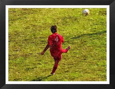 Oil Painting Of Soccer Player Art Print by John Vito Figorito