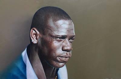 Mario Balotelli Wall Art - Painting - Oil Painting On Canvas Mario Balotelli by Rajasekharan Parameswaran