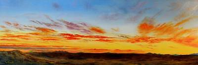 Painting - Oil Painting - When The Clouds Turn Red by Roena King