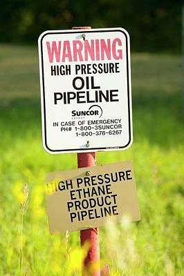 Destruction Photograph - Oil Pipeline by Ashley Cooper