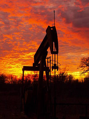 Photograph - Oil Pump Beneath A Blazing Sky by James Granberry