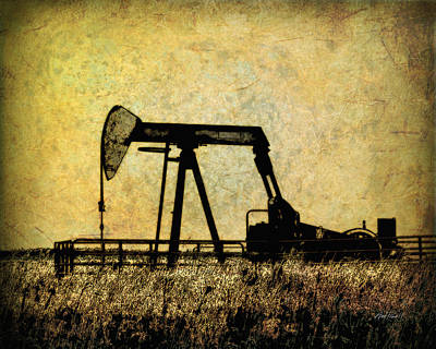 Digital Art - Oil Pump Jack  by Ann Powell