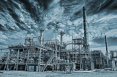 Oil Refinery In High Definition Art Print by Christian Lagereek