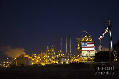 Photograph - Oil Refinery by Jim West