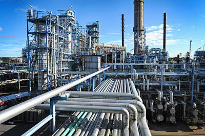 Oil Refinery Overall View Art Print by Christian Lagereek