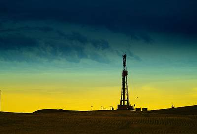 Oil Rig In The Spring Art Print by Jeff Swan