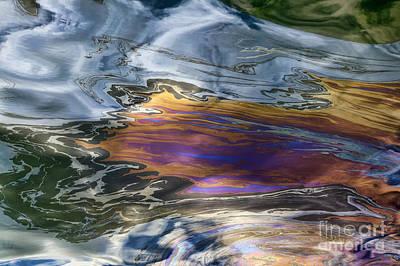 Oil Slick Abstract Art Print