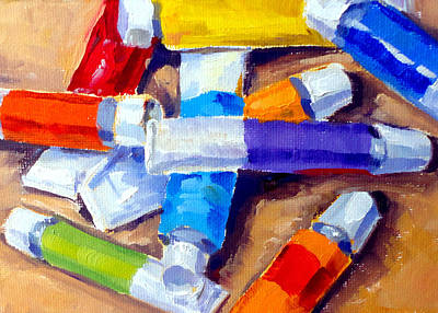 Painting - Oil Tubes I by Mark Hartung