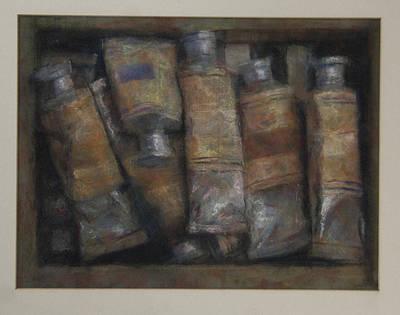 Oil Tubes Art Print