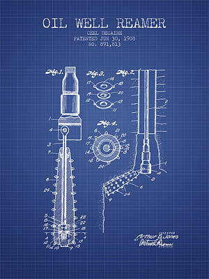 Ethereal - Oil Well Reamer Patent from 1924 - Blueprint by Aged Pixel