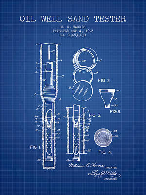 Minimalist Movie Quotes - Oil Well Sand Tester Patent From 1928 - Blueprint by Aged Pixel