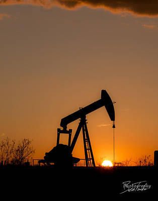 Kids Alphabet Royalty Free Images - Oilfield Sunset Royalty-Free Image by Ben Tucker