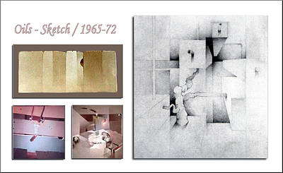 Drawing - Oils Sketch 1965 To 72 by Glenn Bautista