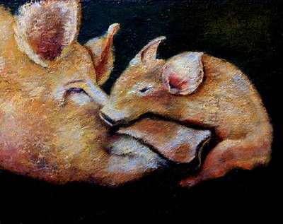 Painting - Oink by Marie Hamby
