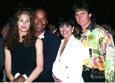 Bruce Jenner Photograph - O.j. Simpson - Paula Barbieri - Kris And Bruce Jenner Party In Palm Springs by Gary Kaplan