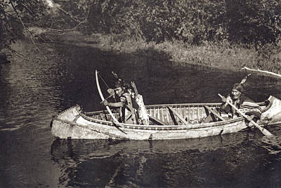 Photograph - Ojibwas Hunting by Underwood Archives