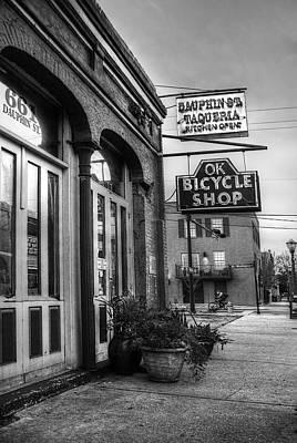 Digital Art - Ok Bike And Biker by Michael Thomas