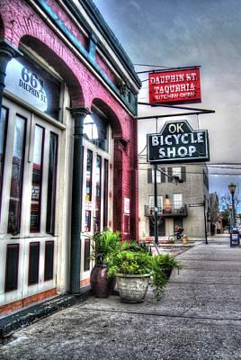 Ok Bike With Biker Original by Michael Thomas