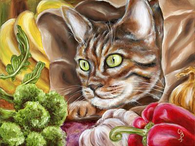 Broccoli Painting - Ok Now What by Hiroko Sakai