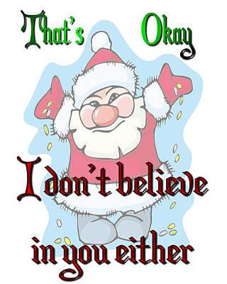 Ok Santa Art Print
