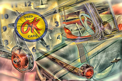Ok Used Cars Art Print by Jeanne Hoadley