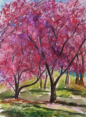 Okame Cherries Art Print by John Williams