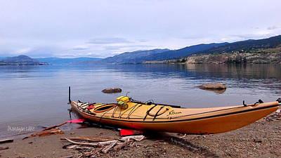 Okanagan Lake - Kayaking Art Print by Guy Hoffman
