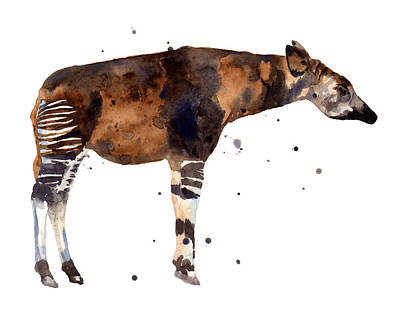 Wild Animals Painting - Okapi Painting by Alison Fennell