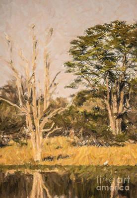 Digital Art - Okavango Scene Botswana by Liz Leyden