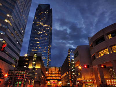 Urban Photograph - Okc - Devon Tower Twilight 001 by Lance Vaughn