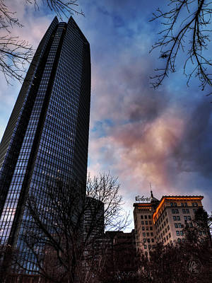 Photograph - Okc Winter At Devon Tower 001 by Lance Vaughn