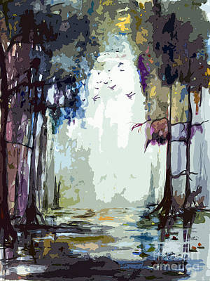 Painting - Okefenokee Georgia Light At The End by Ginette Callaway