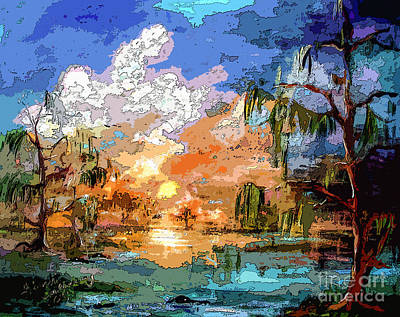 Painting - Okefenokee Sunset Magic  by Ginette Callaway