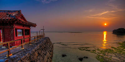 Photograph - Okinawa Peaceful Sunset by Chris Rose