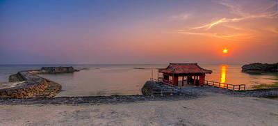 Okinawa Sunset In Yomitan Art Print by Chris Rose