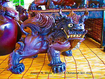 Photograph - Okinawan Lion Dogs by Joseph Mora