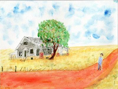 Painting - Oklahoma Abandoned Farm by Jim Taylor