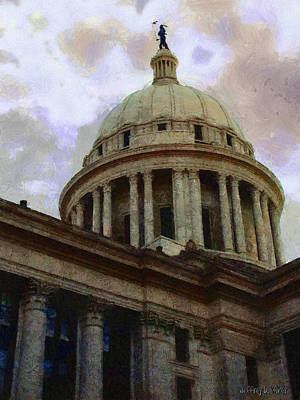Architecture Painting - Oklahoma Capital by Jeffrey Kolker