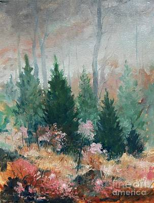 Landscape Painting - Oklahoma Cedars by Micheal Jones