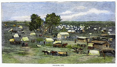 Destiny Painting - Oklahoma City, 1889 by Granger