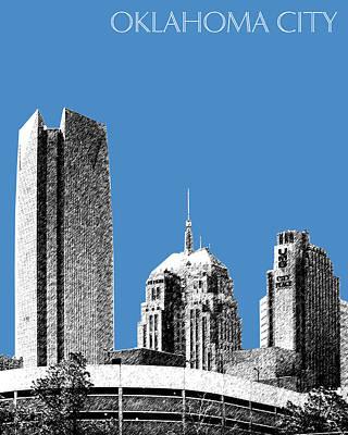 Oklahoma Digital Art - Oklahoma City Skyline - Slate by DB Artist