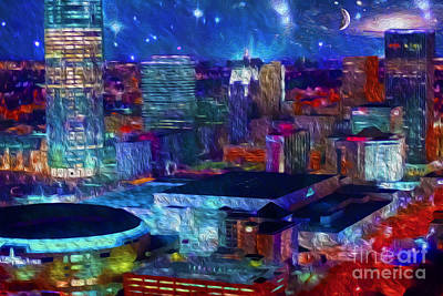 Oklahoma City Starry Night Art Print