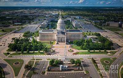 Photograph - Oklahoma City State Capitol Building A by Cooper Ross