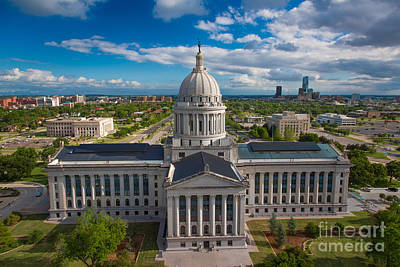 Photograph - Oklahoma City State Capitol Building B by Cooper Ross