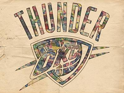 Painting - Oklahoma City Thunder Poster Art by Florian Rodarte
